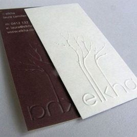 Blind Emboss Name Card
