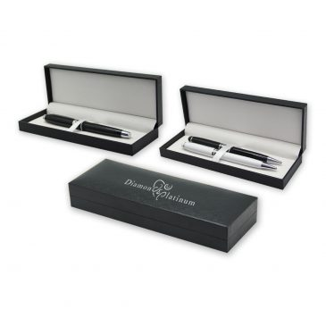 Single / Double Pen Gift Box W/Black Sleeve