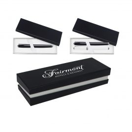 Single/Double Pen Gift Box W/Black Sleeve