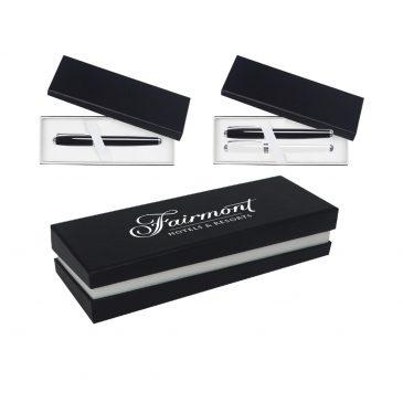 Single/Double Pen Gift Box W/Black Sleeve