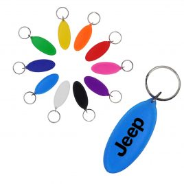 Transparent Oval Key Holder