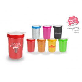 U Mug – Double Wall Plastic Mug with Lid (532ml)