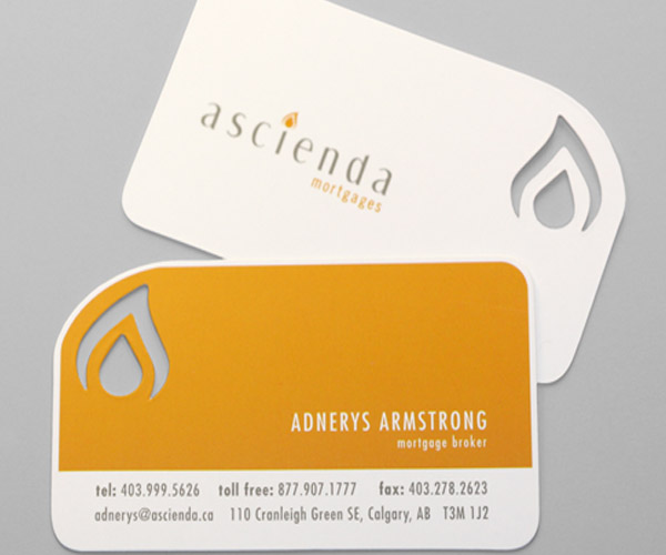 Custom die cut name card mortgage broker die cut business card reheart Choice Image