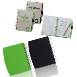 Recycled Notebook With Recycled Paper Pen