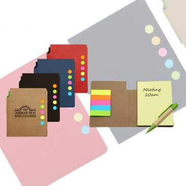Eco Sticky Notepad with Recycled Paper pen