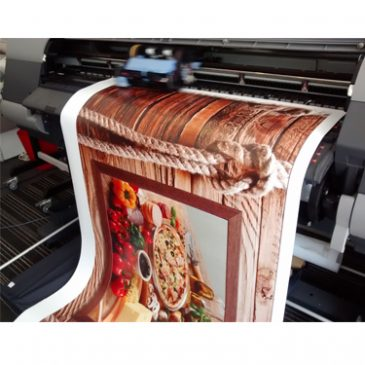 Large format printing on Synthetic