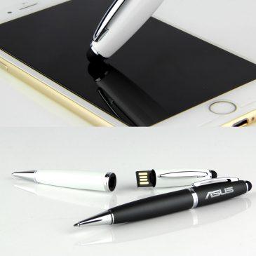 GENEVA – USB Flash Drive w/ Ball Pen & Stylus (16GB)