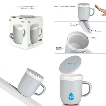 VITALITY SKY – Ceramic Suction Mug (260ml)