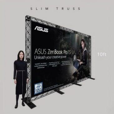 10 ft Slim Truss Backdrop