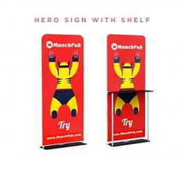 HERO SIGN Fabric With Shelf