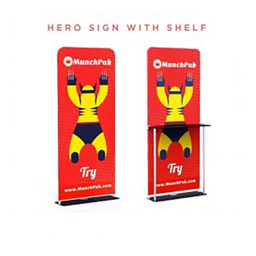 HERO SIGN Fabric With Shelf