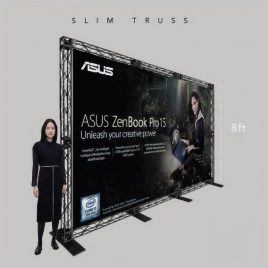 8 ft Slim Truss Backdrop